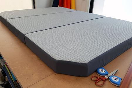 Fabricación colchón furgoneta